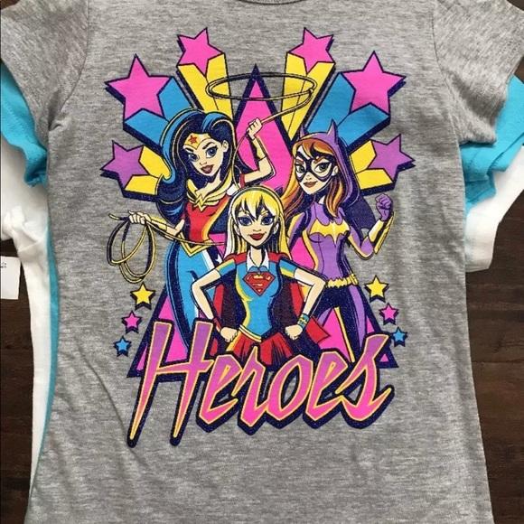 75f74972 Shirts & Tops | Dc Superhero Girls Tees 3 Pack Size 56 | Poshmark